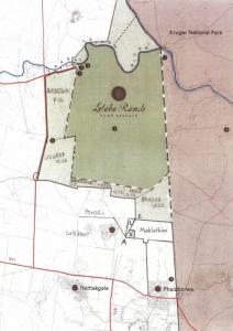 map showing roads to Mahlathini